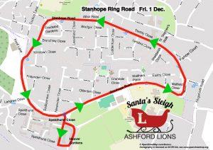 Santa Map, Stanhope Ring Road