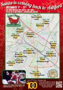 Santa's Sleigh Poster