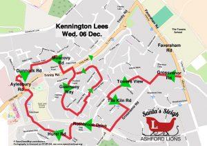 Santa Map, Kennington Lees