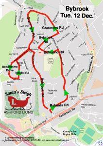 Santa map Bybrook