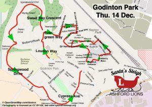 Santa map Godington Park
