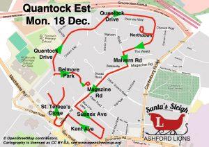Santa Map: Quantock Drive