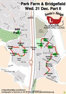 Santa Map: Bridgefield