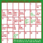 Santa Sleigh Calendar 2018