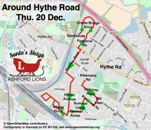 2018 ROUTE-20-Dec-Thursday_Around-Hythe-Road