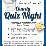 Ashford Lions Charity Quiz November 9