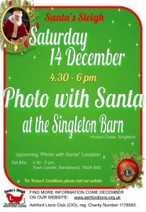 Photo with Santa at Singleton Barn 2019