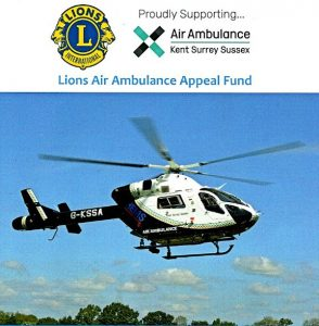 Lions support the Air Ambulance