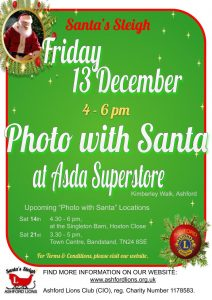 Photo with Santa at Asda Superstore 2019