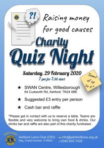Charity Quiz Night 2020-02-29