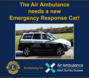 Ashford Lions fundraising for Air Ambulance KSS